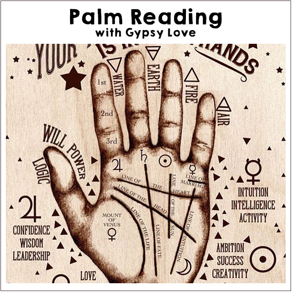 PalmReading with Gypsy Love, Off-Grid Living Festival. Events Victoria