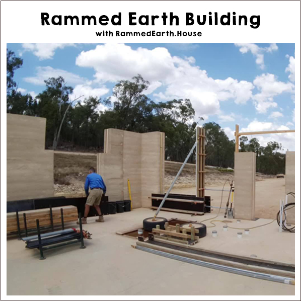 Rammed Earth Workshop. Beechworth Victoria. Off-Grid Living Festival. Events Victoria