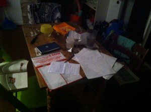 Night study and prep
