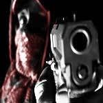 gang member holding gun