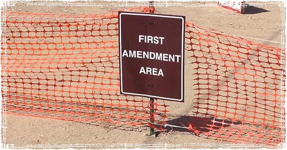First Amendment Zone in Nevada