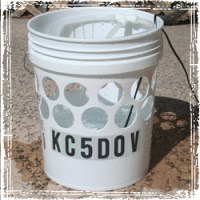 Drilling Holes in the Plastic Bucket