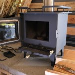 Cubic wood stove