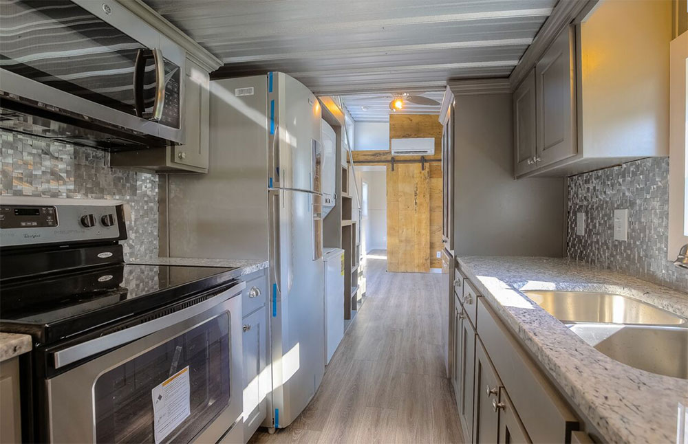 Shipping container home interior