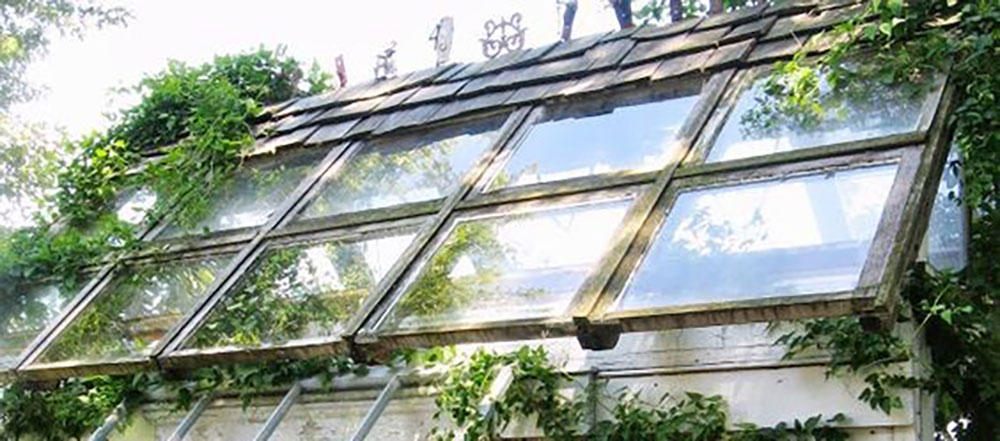 Greenhouse made with old windows