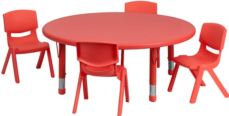 table set on Kids Round Table And Chairs id=70322