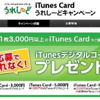 iTunes Card うれしーどキャンペーン | キャンペーン詳細 http://www.ure-seedcp.com/cp/