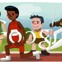 Google Doodle ロンドンオリンピック開会式 2012/7/27