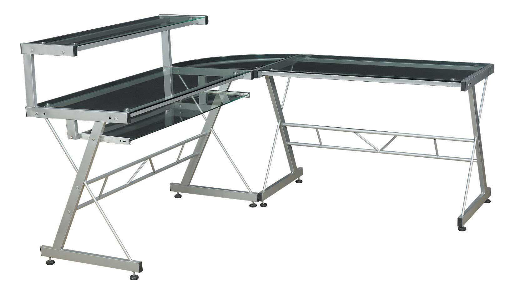 Glass Computer Desk For Elegant Appearance