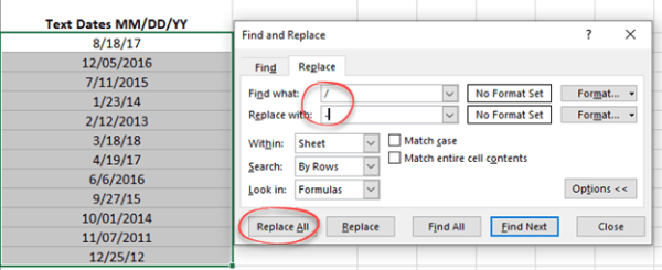 Replacing text or separators in selected Excel cells ...