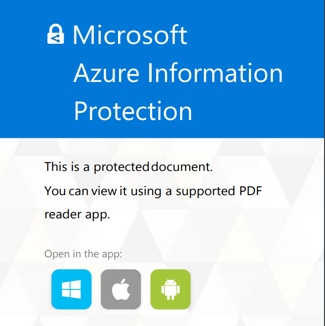 Protected PDFs Now Generally Available with Azure