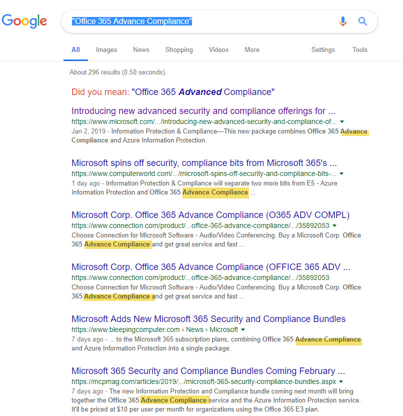 How a flawed Microsoft press release is duplicated by many references that can be found by a Google search.