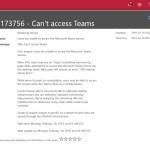 Teams problem TM173756