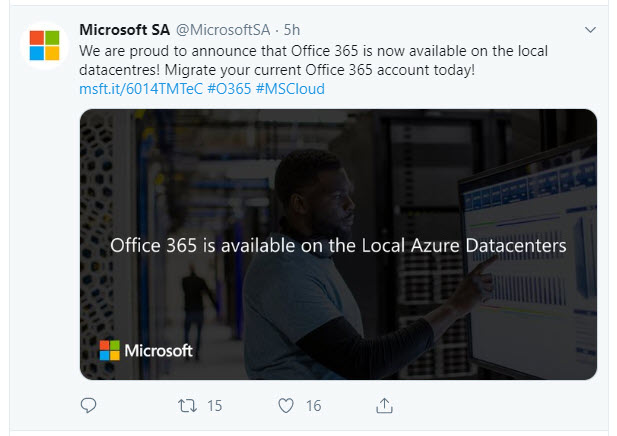 Microsoft South Africa Shares the Good News about Office 365 Service