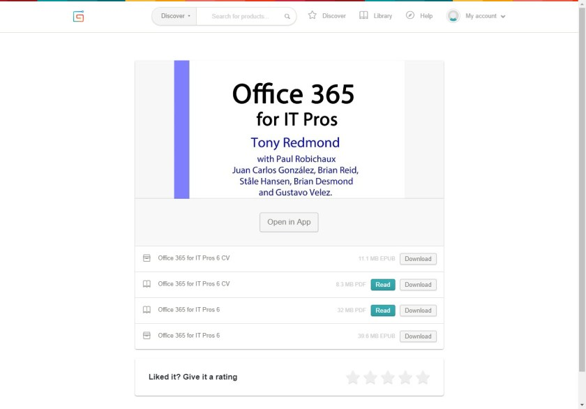 How to download the Office 365 for IT Pros eBook files