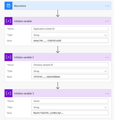 Creating Flow variables for the Graph app