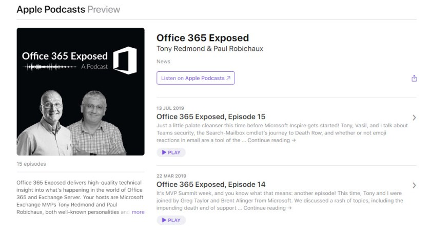 Office 365 Exposed Podcast