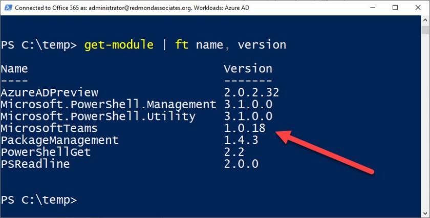 The right version of the Teams PowerShell module for Private Channel support