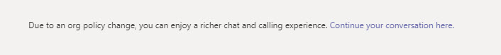 External contact is eligible for rich federated chat