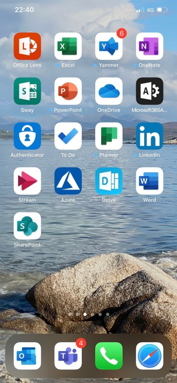 Pinning Outlook to the iOS Home Screen