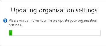The Exchange Admin Center rehydrates organization settings (image credit: Microsoft)