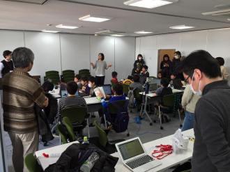 小学生・中学生向けプログラミング道場「CoderDojoさいたま第25回」を貸会議室6Fで開催しました。