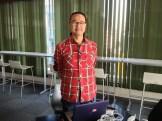 本格オープン初日の初めての訪問者は、ZEN Coworking運営者の山川ジャッキーさんでした。