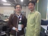yujiさんから「ナナエフ」のラベルが入った日本酒をいただきました。ありがとうございます!