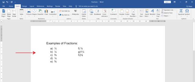 How to type fractions in MS Word - OfficeBeginner