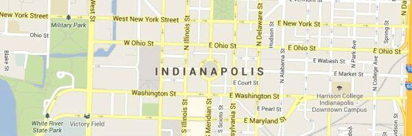 Indianapolis Indiana Map