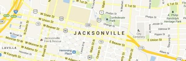 Jacksonville FL Map