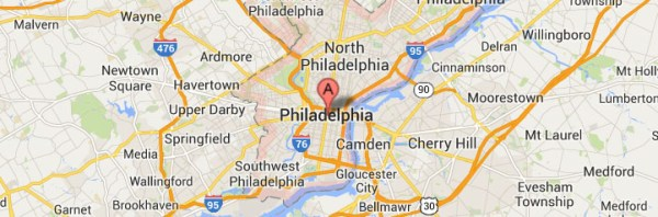 Philadelphia Pennsylvania Map