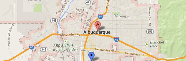 Albuquerque-map-of-coffee-service-area-for-delivery