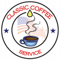 Final Logo design on classic coffee service tampa website