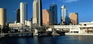 Daylight Tampa Downtown City Skyline Image