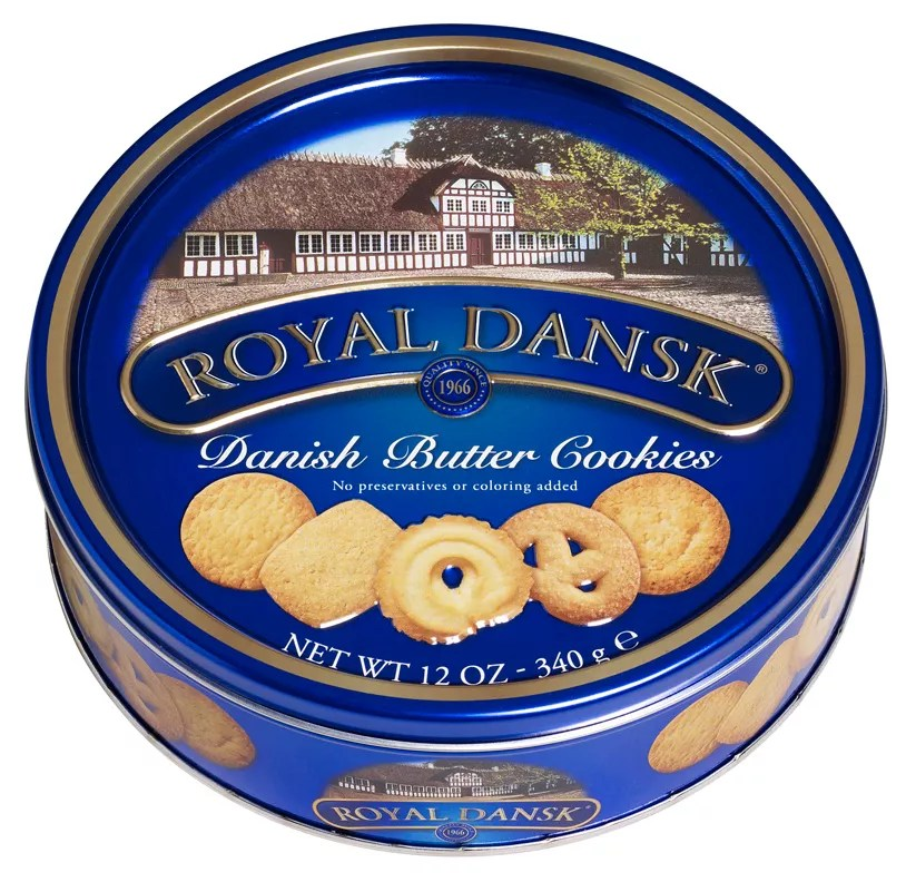 Royal Dansk Danish Butter Cookies 12 Oz Tin By Office