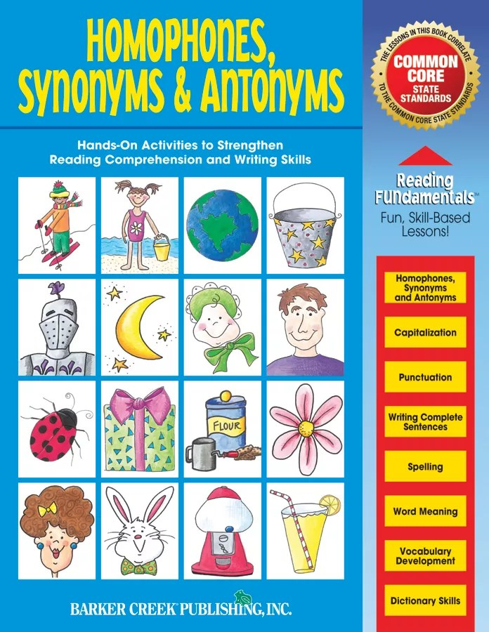 Barker Creek Grammar Activity Book Homophones Synonyms And