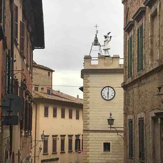 Things to do in Montepulciano look at the Bell Ringer
