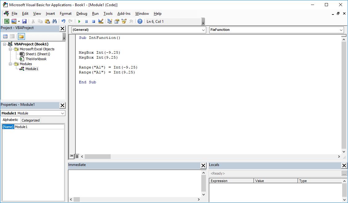 Excel VBA functions - Int VBA function