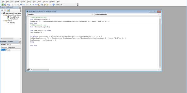 Excel VBA How To - VLookup VBA Function
