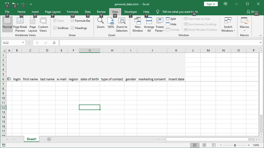Excel VBA training: Building an application for entering data
