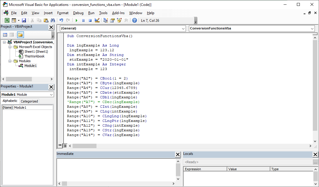 VBA Tutorial - VBA Conversion Functions