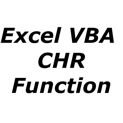 Excel VBA CHR function