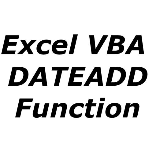Excel VBA DATEADD function