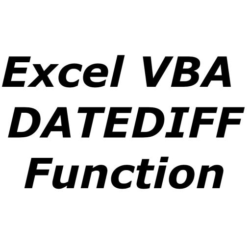 Excel VBA DATEDIFF function