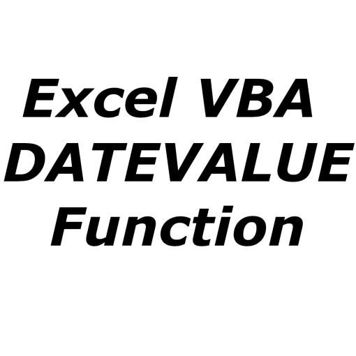 Excel VBA DATEVALUE function