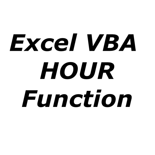 Excel VBA HOUR function