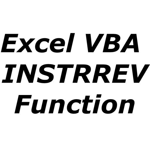 Excel VBA INSTRREV function