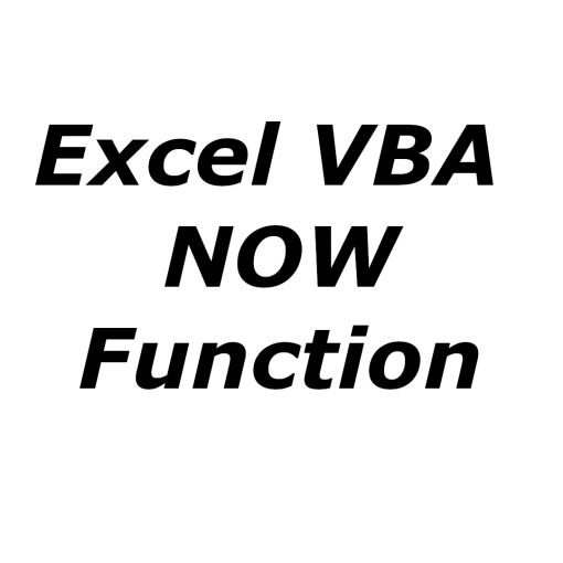 Excel VBA NOW function
