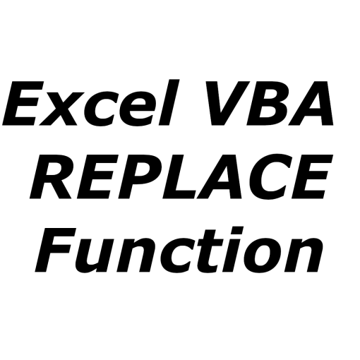 Excel VBA REPLACE function
